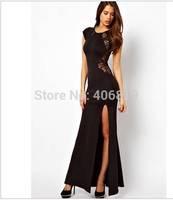 2014 new spring Korean sexy slim slim shoulder sleeve nightclub package hip dress factory direct free shipping