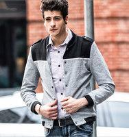 Wholesale Min 5pcs Fashion New autumn winter men's jacket,black/gray/bule collar jacket ,free shipping