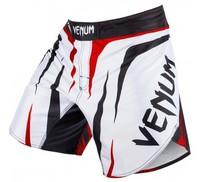"Venum ""Sharp"" Fightshorts -Ice/Black/Red QUALITY COMBAT BOXING MMA TRAINING BJJ KICKBOXING Muay Thai"