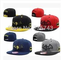 1 pc/lot 2014  Free Shipping Unisex batman BBOY Snapback Hip Hop Cap Baseball Skateboard Hat YS9307