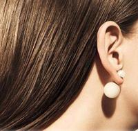 2014 Hot Sale Europea Fashion Brief Female Big Small Pearl Stud Earring