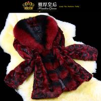 Queen 2014 winter fur mink fight mink overcoat fox fur women's outerwear