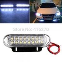 4pcs Car Truck Universal Day Fog Aux Driving DRL 16 LED Light Lamp White free shipping