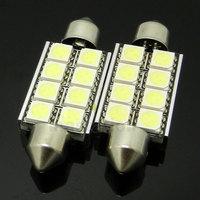 4pcs/lot Canbus Festoon Dome Lights 42mm 8 SMD 5050 Pure White Error Free Car Lamp Bulb Parking Car Light Source 12V