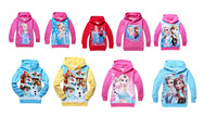 2014 Frozen Elsa Hoodies Sweatshirts long sleeves Princess girl hoodies anna Autumn clothes girls Kids tops Children coat