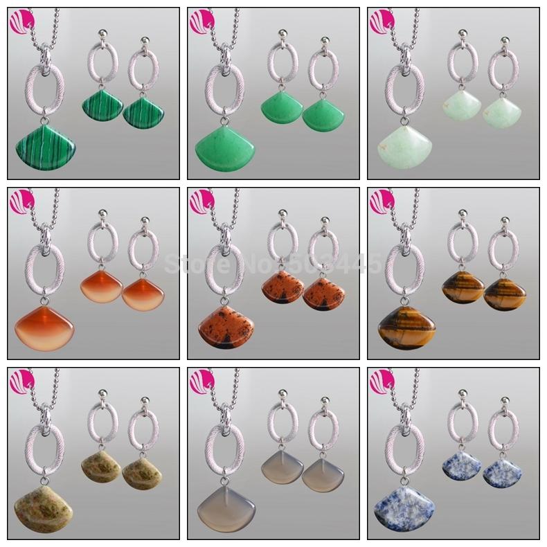natural de piedra de zafiro africano conjunto de joyas de coral de color ámbar casamento collares y conjuntos pendientes para las mujeres de ágata perolas brinco