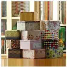 Mini tin tissue box lovely car tissue box table napkin box kleenex cardboard boxes *100(China (Mainland))