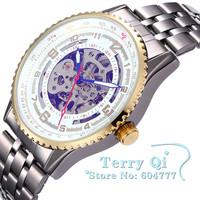 SHENHUA Classic Watch Man Skeleton Watches Auto Mechanical Wristwatch  Christmas Gift Free Ship