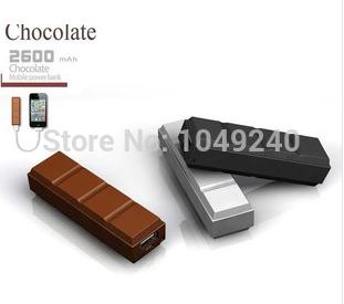 2pcs Mini Chocolates Mobile Phone Power Bank Cargador Portable External Battery Charger Carregador Bateria Powerbank 2600mAh(China (Mainland))