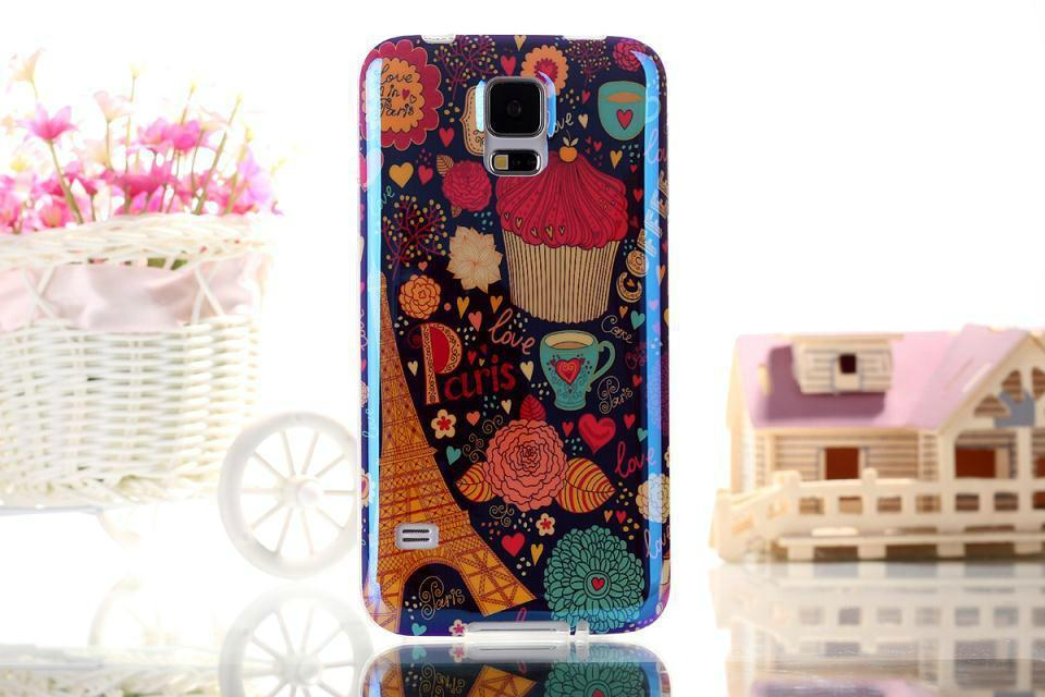 For Samsung Galaxy S5 G900 I9600 Love in Paris Dessert Eiffel Tower TPU Soft Case / Back Cover(China (Mainland))