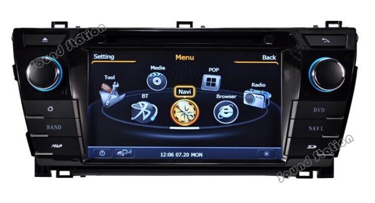 Corolla DVD GPS multimedia For Toyota Corolla Car Navigation Multimedia Radio Bluetooth Monitor USB 3G Wifi TV Audio Video(China (Mainland))