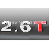 2.6T Turbo Metal Rear Trunk Emblem Badge Decal Sticker For Chrysler Mitsubishi Dodge