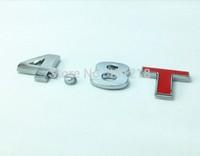 4.8T Turbo Metal Rear Trunk Emblem Badge Decal Sticker Car tail styling sticker