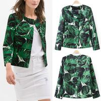 2014 Fashion Autumn Long Sleeve Camouflage Flower O-Neck Blouse Jacket Coat Tops