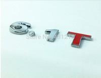 6.1T Turbo Metal Rear Trunk Emblem Badge Decal Sticker Car tail styling sticker