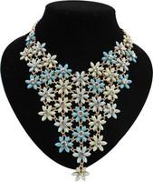 EUN039 Top Quality Guarantee European Short Design Beautiful Cloud Statement Necklace Luxurious Collar Jewelry