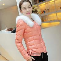 NAIULA 2014 Winter Coat Down Jacket Candy Color Fur Collar Cotton-padded Women Coat Parka Plus Size Winter Jacket Women AS1270