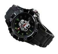 Star Wars Clone Trooper Fashion Boy Man Metal Black Silicone Watch Wrist Wholesale