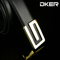 Mixed wholesale factory new casual men's belt buckle plate cow leather G -shaped belt buckle Korean smooth PD505