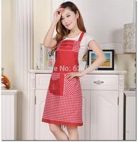 FREE SHIPPING Waterproof anti-oil foreign trade work apron Korea Korean cute kitchen apron waterproof gowns