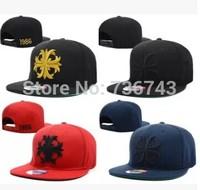 1 pc/lot 2014  Free Shipping Unisex Chrome BBOY Snapback Hip Hop Cap Baseball Skateboard Hat YS9297