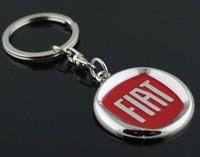 2 pcs/lot FIAT car emblems Keychain Keyrings Key Chain Ring Key Fob ,car keychain car key rings car key ring free shipping