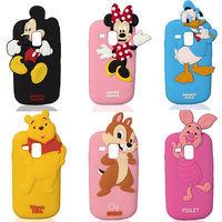 Aomail FREE SHIPPING cartoon minnie Mickey Silicone Case For Samsung Galaxy SIII S3 Mini i8190