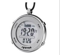 stainless steel men fishing watch barometer waterproof 30m digital multifunction sports watch altimeter relojes deportivos