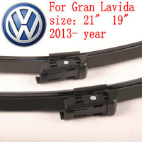"Free shipping car wiper blade For Volkswagen vw Gran Lavida size 21"" 19"" Soft Rubber WindShield Wiper Blade 2pcs/pair deflector"