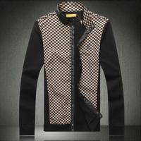 Male jacket outerwear new  2014 spring men's jacket fashion plaid jacket men's louis clothing coat