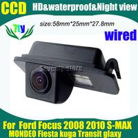 CCD car parking backup Camera for Ford Focus 2008 2010 S-MAX MONDEO Fiesta kuga Transit glaxy car rear view backup camera
