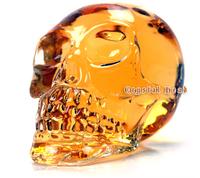 Free shipping 350ml  500ML Crystal Skull Head Shape Wine Drinking Vodka Glass Bottle Decanter