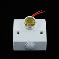 E27 Socket PIR Auto Human Motion Sensor Infrared Detector Adjustable Screw-mount Bulb Lamp Base Switch Lamp Holder 180-250V