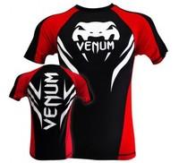 "Venum ""Electron 2.0"" Rashguard - Black - Short Sleeves mmaTSHIRTS"