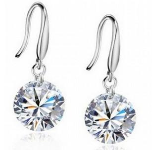 Aaa кристаллические серьги 925 строка падение серебра драгоценный камень серьги серьги с драгоценными камнями высокое качество лучший подарок бесплатная доставка