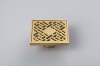 "5404 Construction & Real Estate Fashion Ross Antique Brass Grate Floor Register Waste Drain 4"" x 4"" Flower Art Floor Drain"