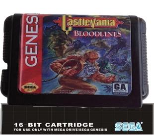 Sega 16bit MD карточных игр : Castlevania - Bloodlines поддерживают только NTSC-U формат для 16 бит Sega MegaDrive бытие игровой консоли bloodlines the golden lily