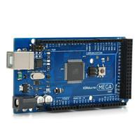 Mega 2560 R3 ATmega 2560-16AU Board + USB Cable for Arduino - Black + Blue Free Shipping