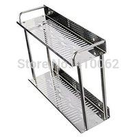 Bathroom 2 Layers Commodity Shelf Holder Rack Side Caddy (38 X 11.5 X 28 cm)