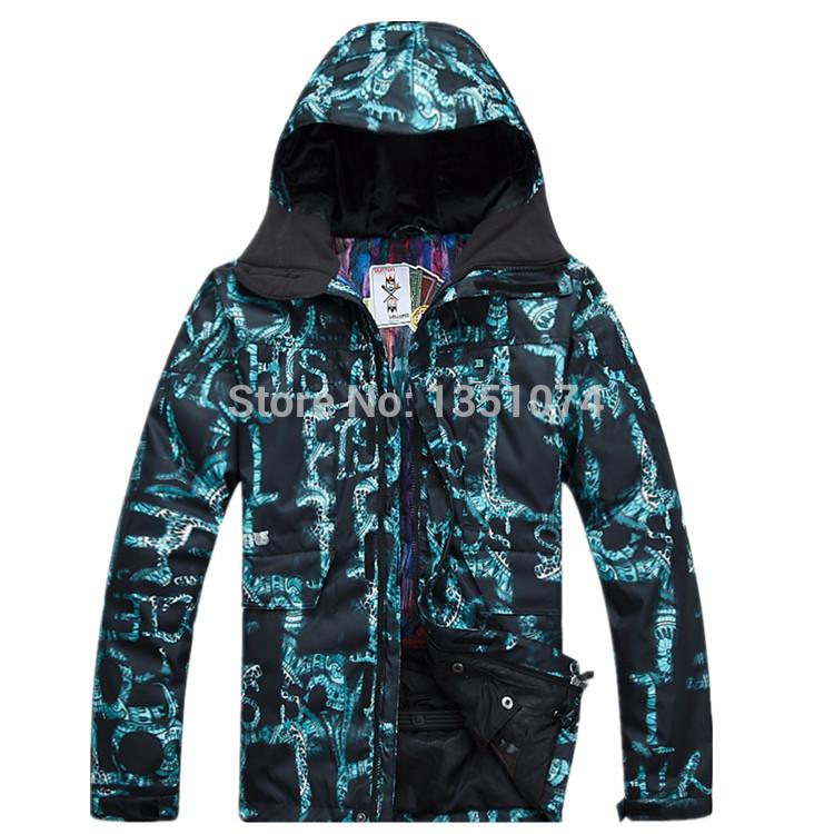new 2014 men's Fashion Winter Outdoor Sports Snowboard Jackets Waterproof Sportswear Skiing suits(China (Mainland))