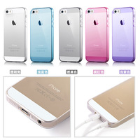 New Style Ultra Thin Crystal Clear TPU Silicone Soft Cover for Apple iPhone 5 5S Transparent Case for iPhone5 5g no tracking
