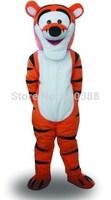 Wholesale Brand new Tigger Mascot Costume Cartoon Mascot Costume Character Costume Free Shipping
