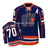 ICE Hockey Xavier Jerseys LaFlamme #70 Halifax Highlanders Jersey NEW Goon - Hollywood Movie Hockey Jersey Vintage Jersey