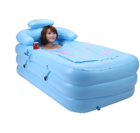 Aumentar grande balde inflável balde banho de banheira dobrável banho de piscina adulto vapor tomar banheira(China (Mainland))