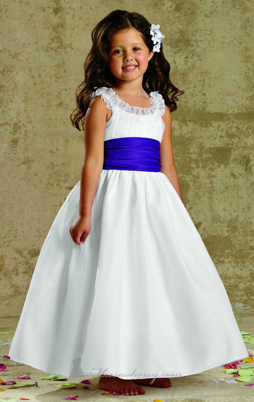 Flower Girl Dresses Royal Blue Sash Images