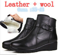 2014 New  women Winter Boots first layer of leather ,Wool Lining, ladies snow boots , leather boots, free shipping