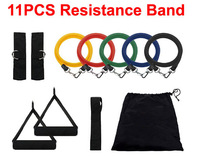 11x Resistance Bands Exercise Kit for Yoga ABS Fitness Pilates  Workout Gym Resistance Training Bands Tube Workout Exercise