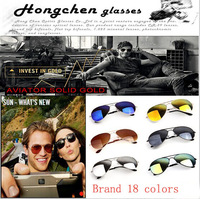 2014 New Fashion coating sunglass Frog Mirror aviator Sunglasse Arrival Men Women Loved Unisex Sunglasses 18 Color 10PCS / lot