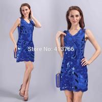 new arriver blue party dresses,party dresses,summer dress 2015,women summer dress,women clothing 2015