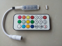 DC5V MINI 21key-IR led pixel controller;WS2811//WS2812B/TM1804/TM1809/INK1003/ICS1903,with 4 buttons on the controller